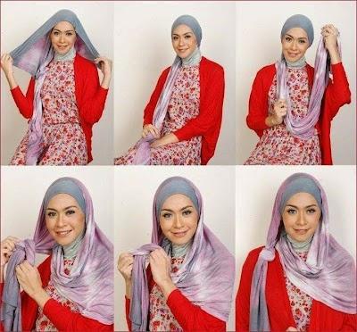 Cara Memakai Hijab Style Modern