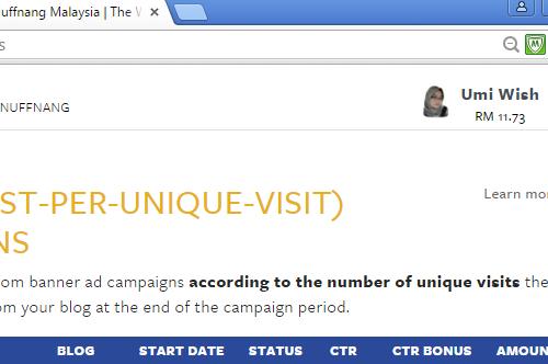 Buat duit dengan blog, jana pendapatan blog dengan pengiklanan Nuffnang, earning Nuffnang terkini