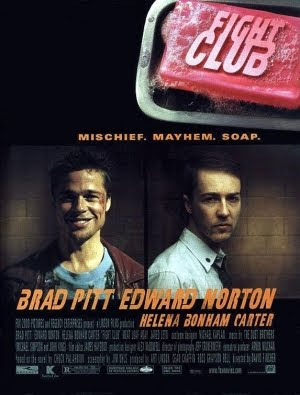 Fight Club film poster brad pitt edward norton