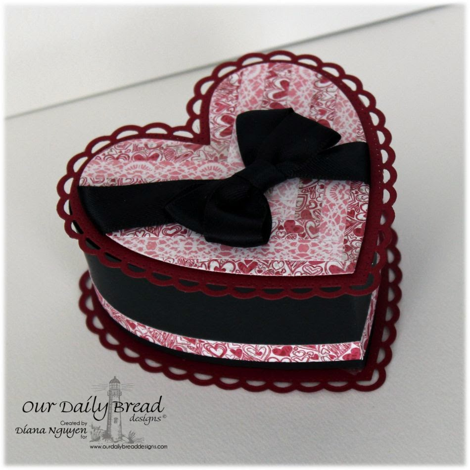 Diana Nguyen, Our Daily Bread Designs, Valentine, box, ODBD Ornate Hearts Dies