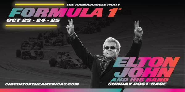 Elton John and his band at Formula 1