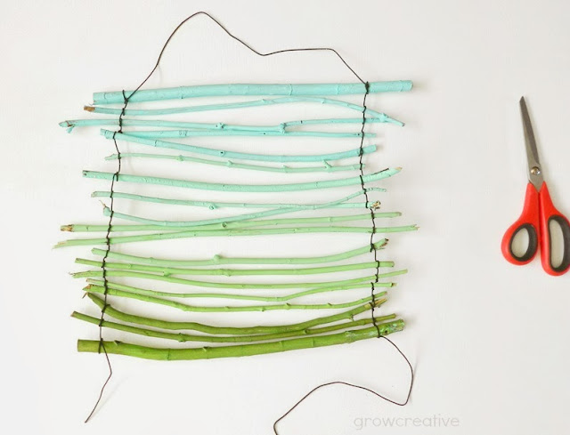 How to Make an Ombre Twig Wall Hanging