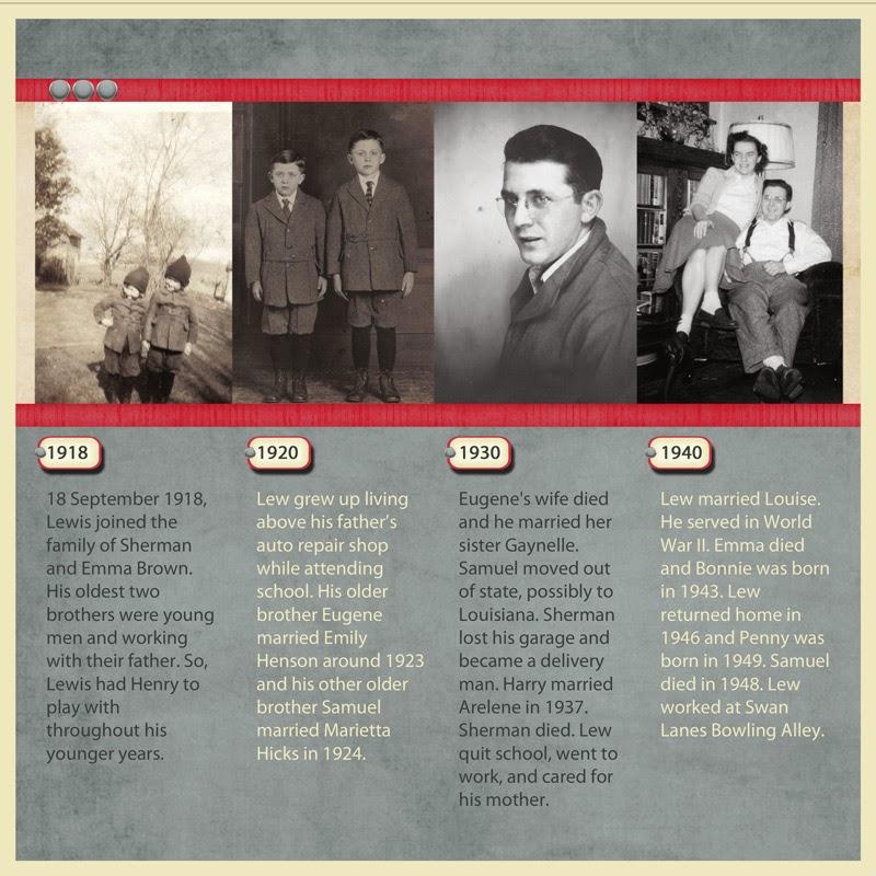 Heritage Scrapbook Timeline