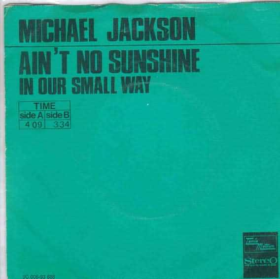 Michael Jackson - Ain't No Sunshine - copertina traduzione testo video download