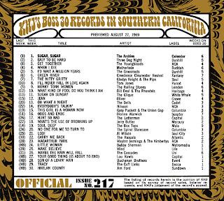 KHJ Boss 30 No. 217 - August 27, 1969