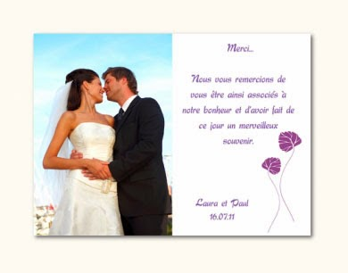 exemple de carte de remerciement mariage invitation mariage carte mariage texte mariage. Black Bedroom Furniture Sets. Home Design Ideas