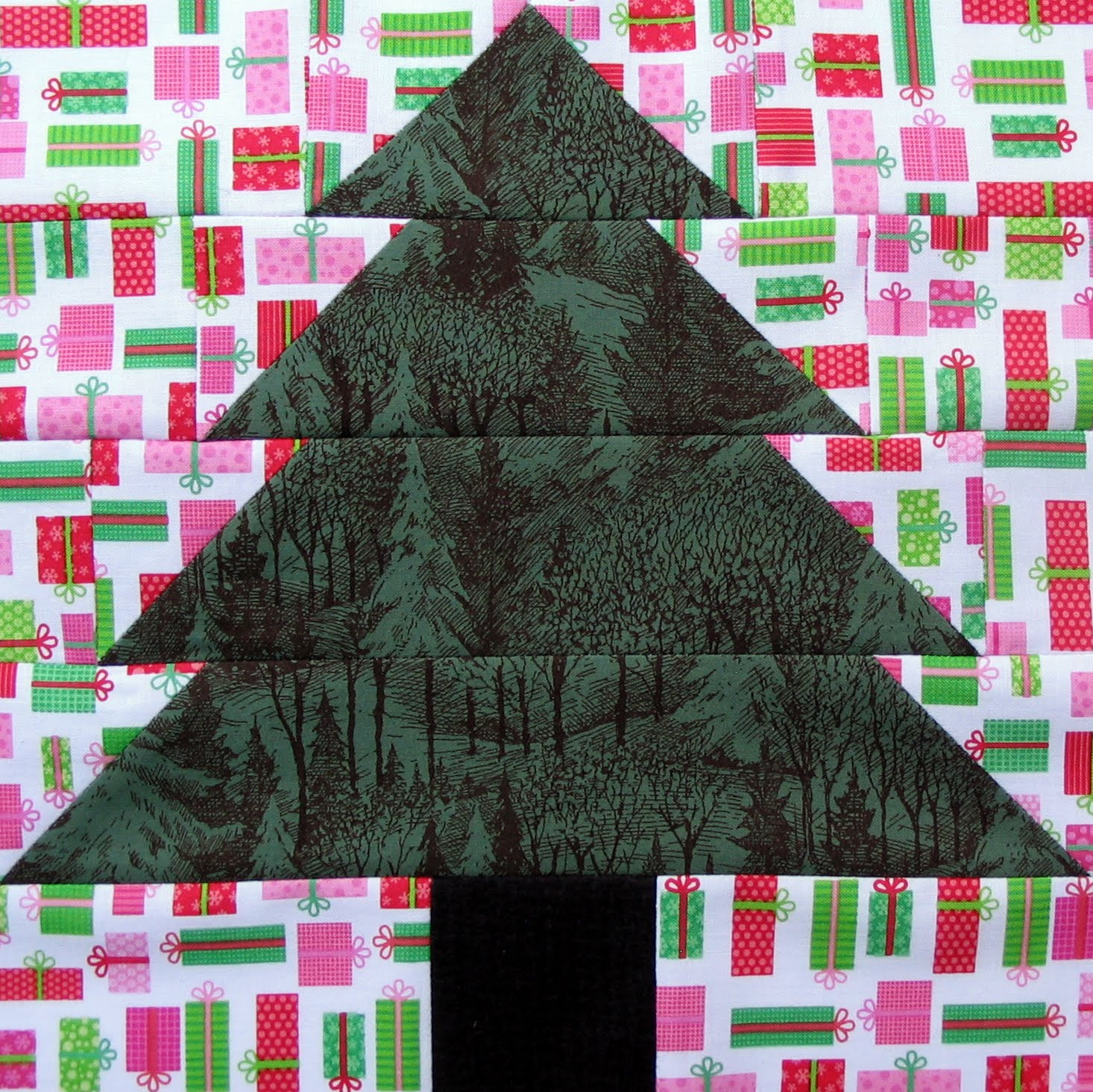 christmas tree quilt block and the newlyweds choosing the tree in the christmas quilt by jennifer chiaverini