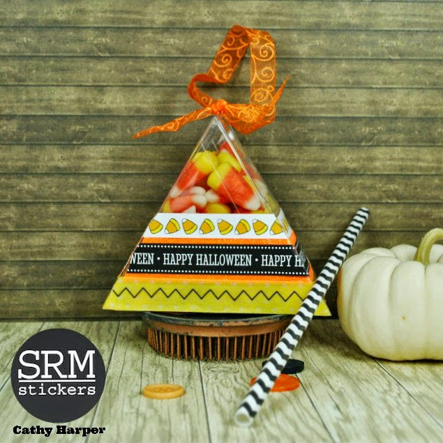 SRM Stickers - Halloween Crafting by Cathy H.- #srmstickers #halloween #clear container #stickers