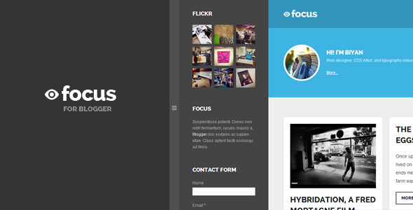 Focus: Grid-based Responsive Blogger Template