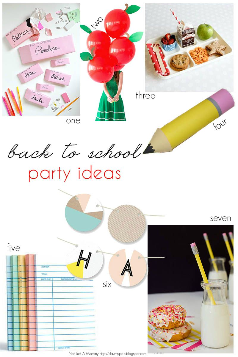 Back To School Bash party ideas