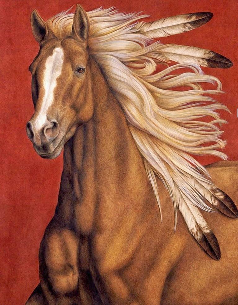 caballos-de-medio-cuerpo-pintados-al-oleo