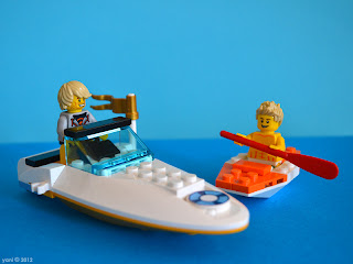 lego neighbours - auric and flax and their boats