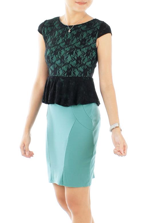 Black Love Peplum PETITE Dress