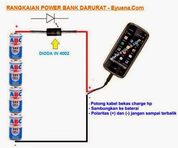 Rangkaian Power Bank Handphone Darurat