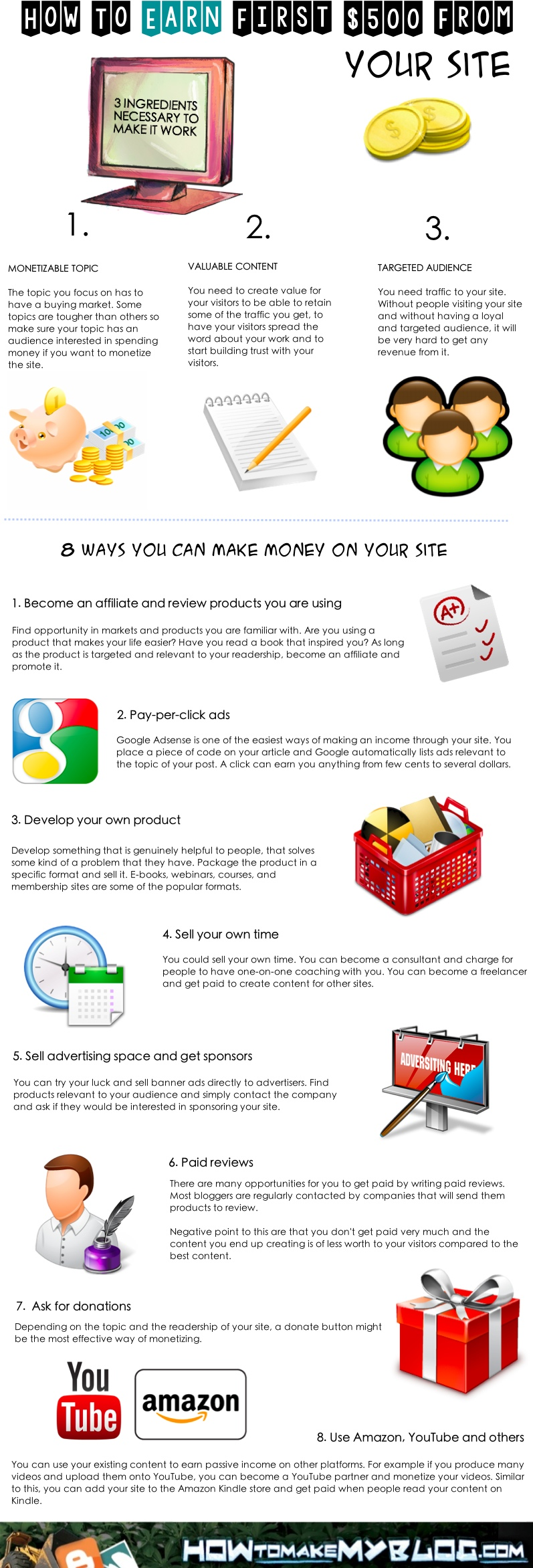 How To Earn First $1000 From Your Blog - #infographic #business #Blogging