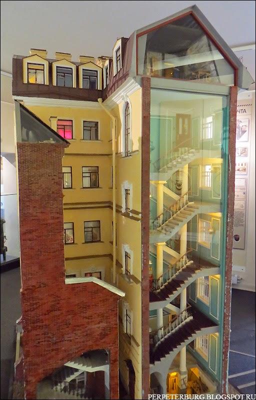 Музей Петербурга-Петрограда макет доходного дома