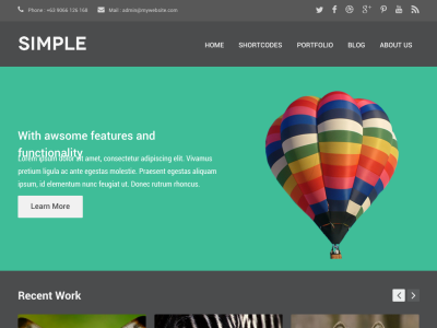 Simple Dark WordPress Theme
