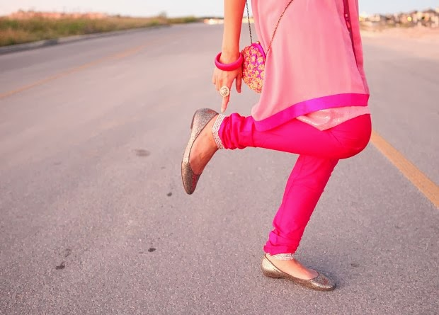 Salwar Kameez, India, DIwali, Hot Pink, Crazy & Co, Tanvii.com