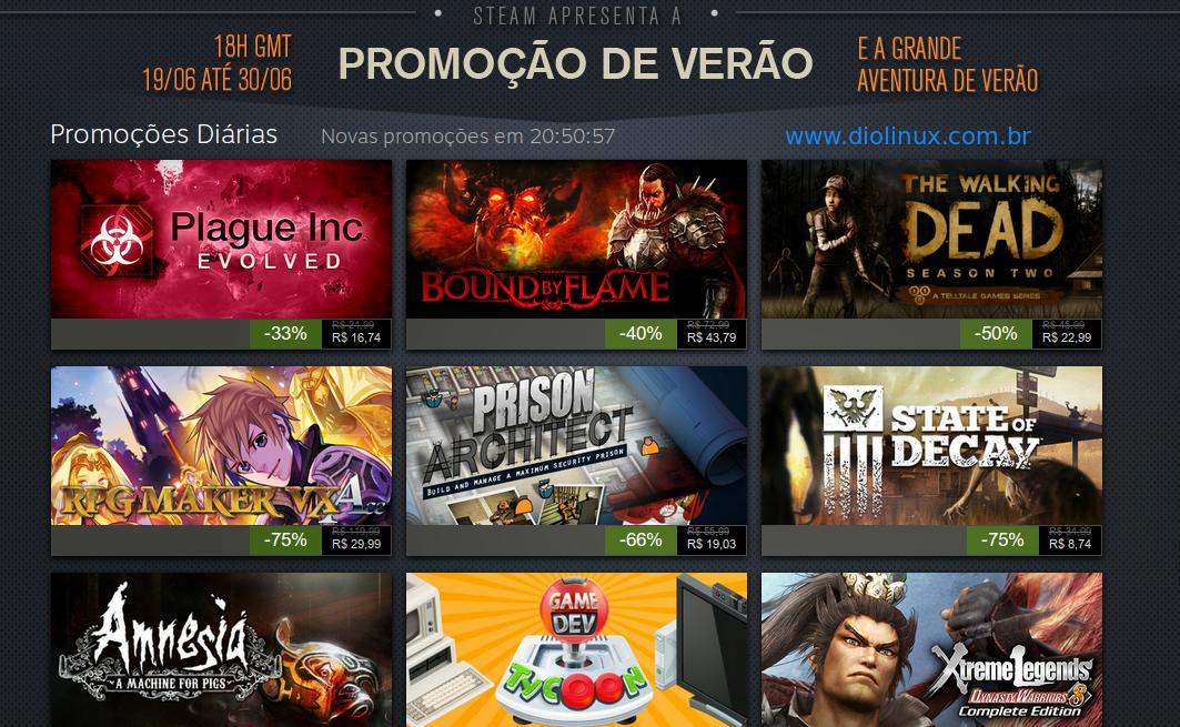 Melhores promoções Summer Sale Steam
