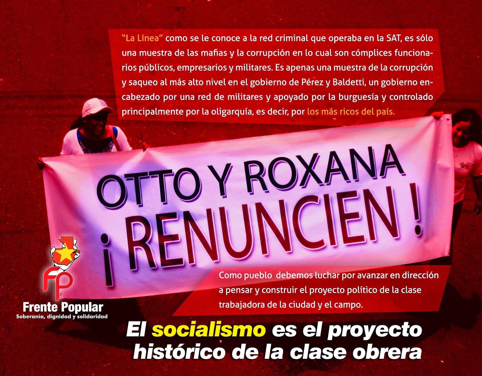 ¡OTTO Y ROXANA: RENUNCIEN!