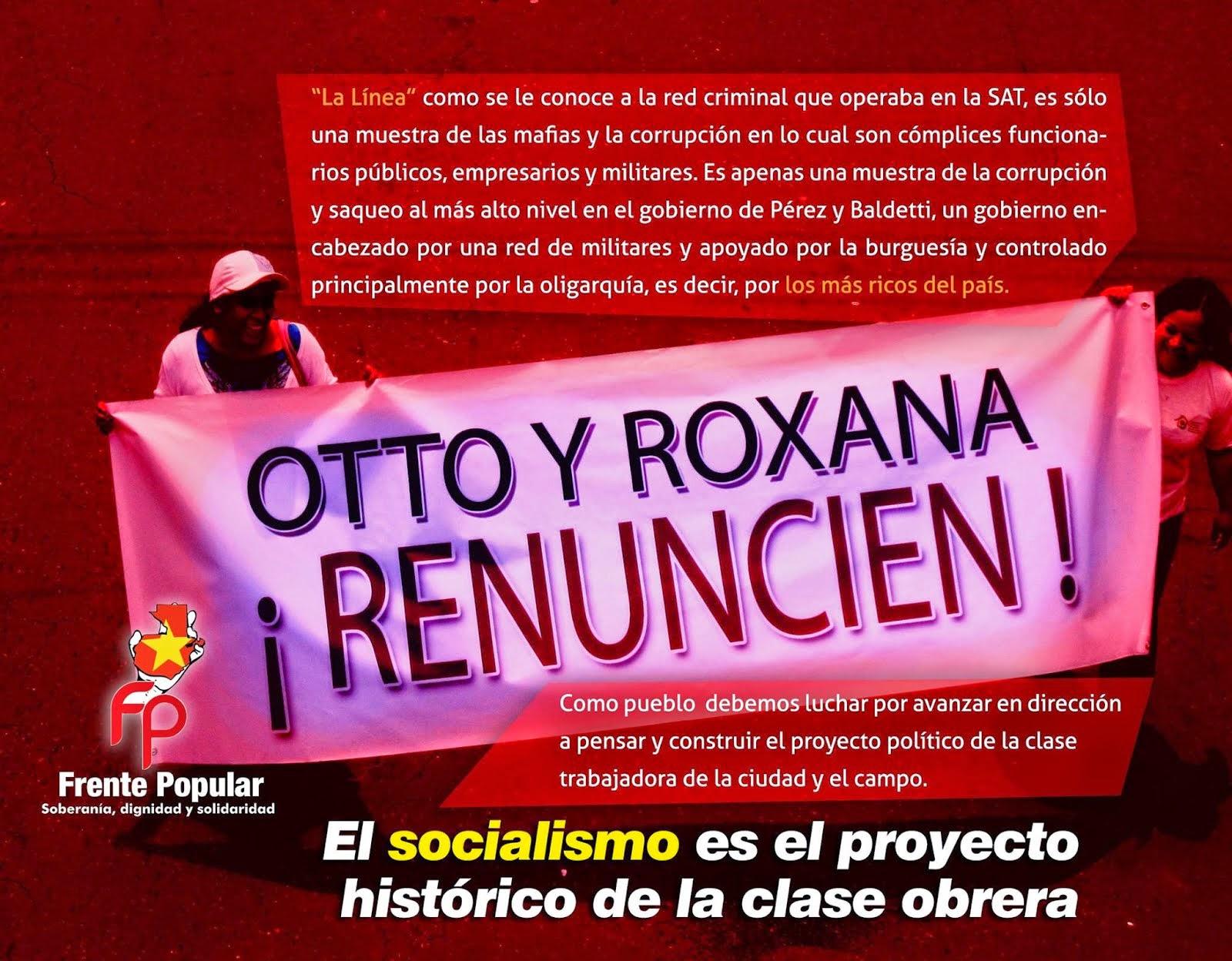 ¡OTTO Y ROXANA: RENUNCIEN!