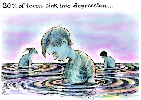 Teen depression keep reading to