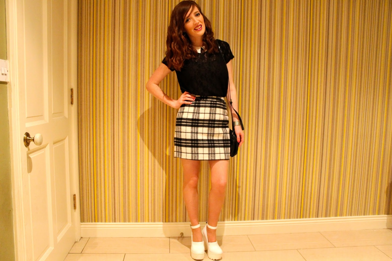 bec boop tartan skirt night