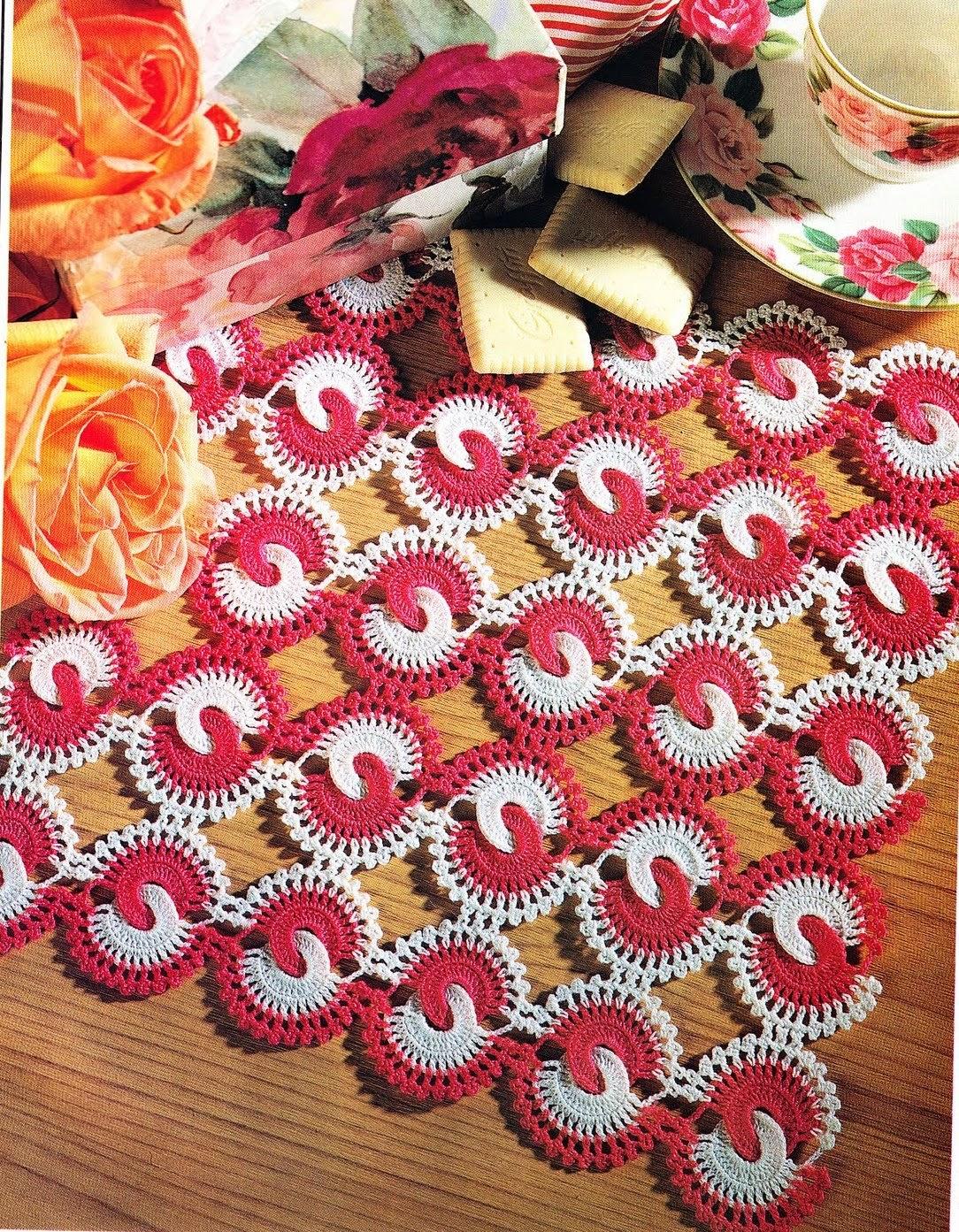 Тунисское вязание крючком салфетки