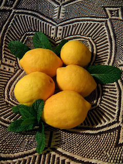 Basket of Lemons and Mint