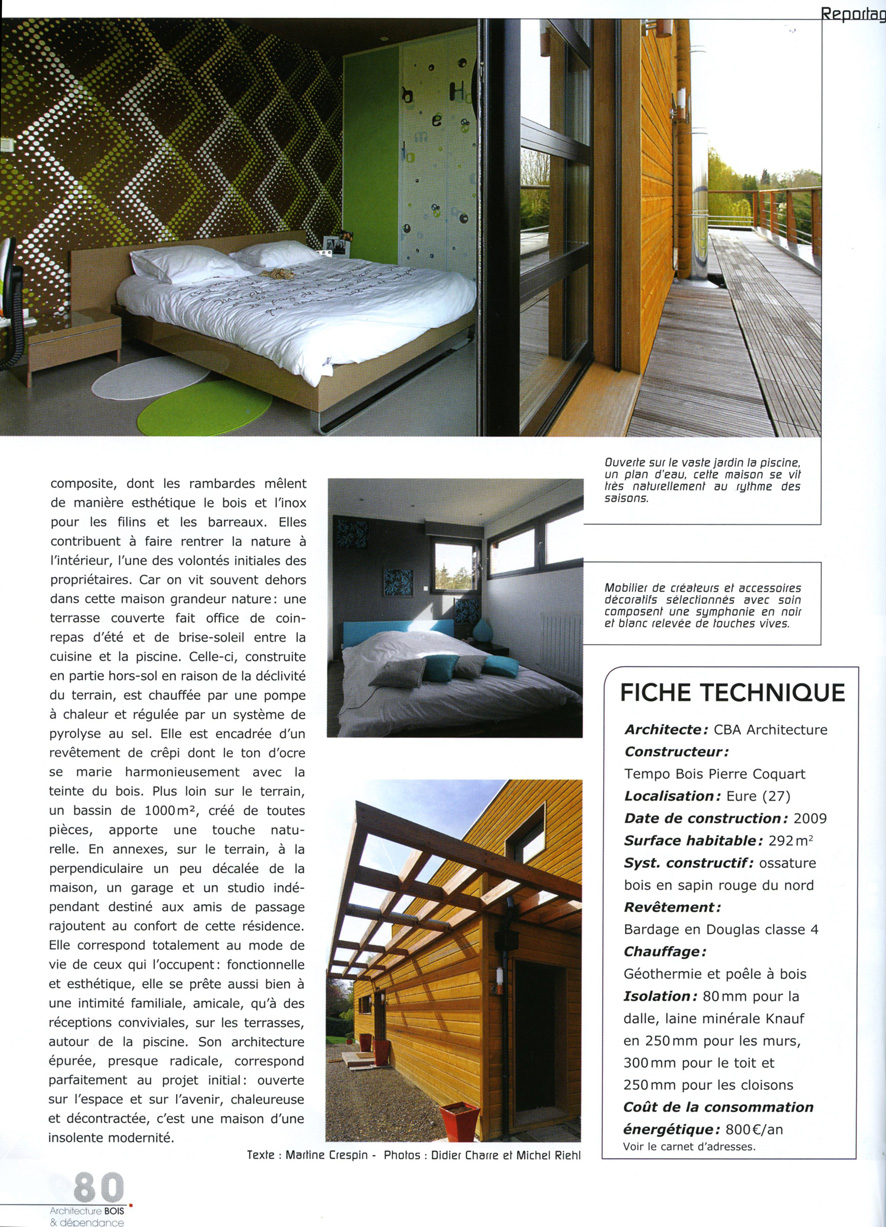 Magazine architecture bois decembre 2011 janvier 2012 for D architecture magazine