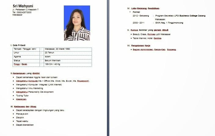 curriculum vitae for secretary