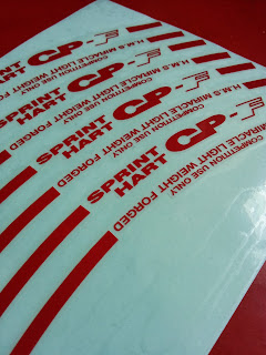 Sprint Hart CP - F in Red and Blue Colour sticker vinyl