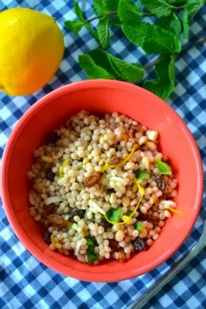 Giant Cous Cous with Mint and Lemon