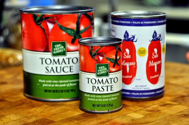 Canned Tomato Sauce, Canned Tomato Paste, and Canned Crushed San Marzano Tomatoes | Taste As You Go
