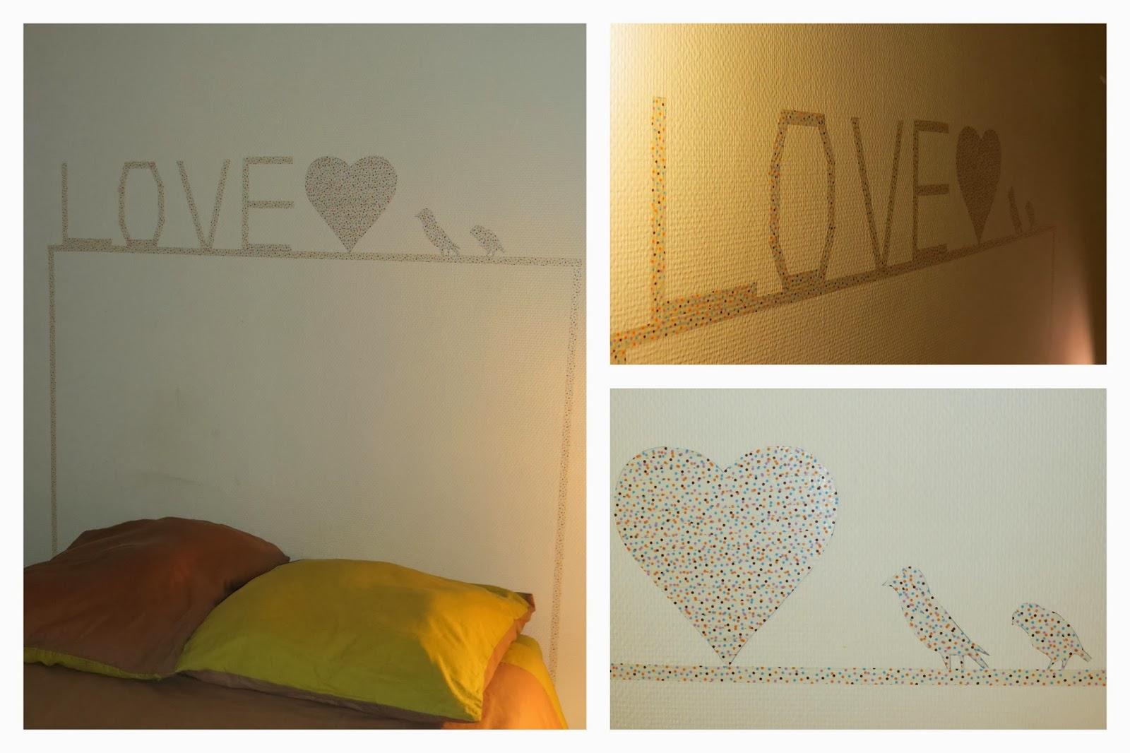 les p 39 tits mots de po t te de lit en masking tape. Black Bedroom Furniture Sets. Home Design Ideas