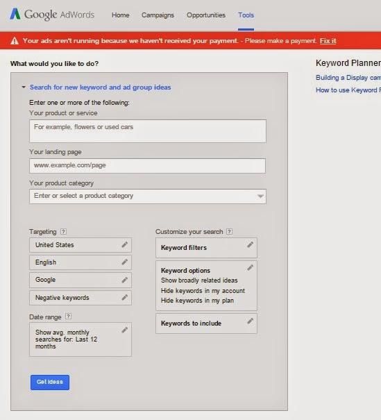 Google Keyword Planner Tool 2