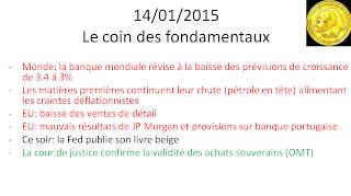 Actualités bourse de Paris 14/01/2015