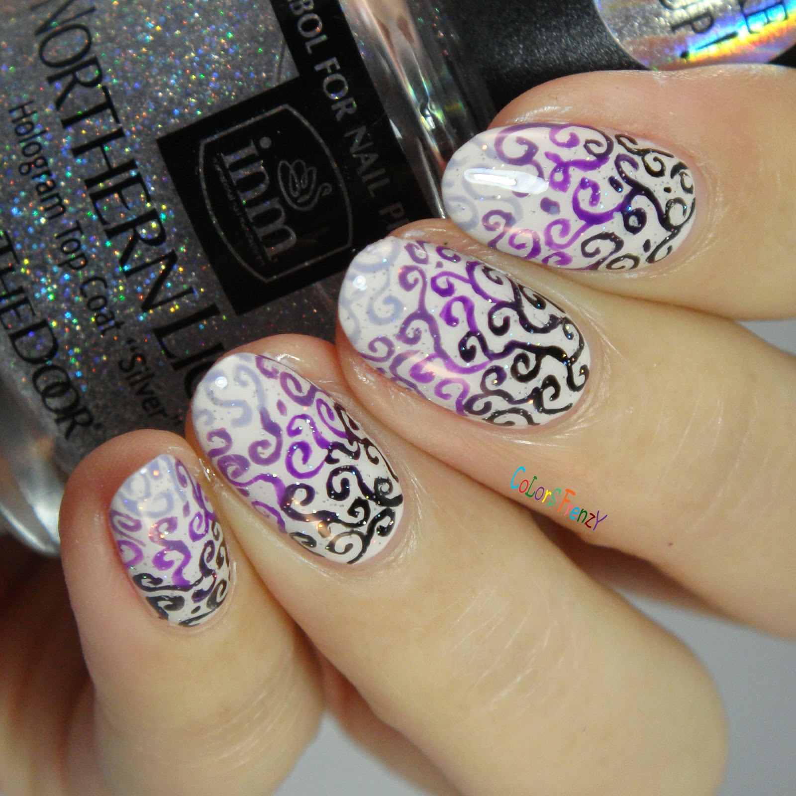 Colors Frenzy: Gradient Purple Swirls