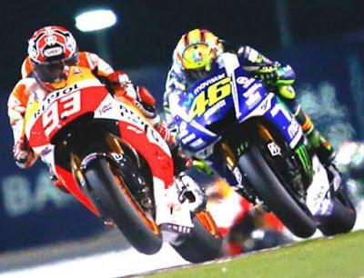 Race Qatar Tunggu Aksi Rossi vs Marquez