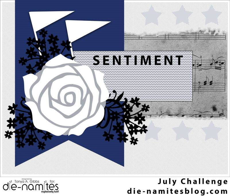 Die-Namties July 2014 Sketch and Dare Challenge