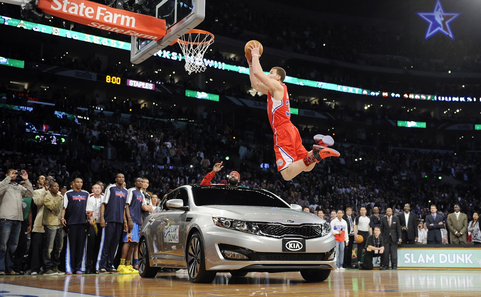 Derrick Rose Dunk On Lebron James Wallpaper NBA All Star We