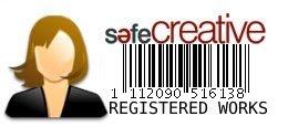 """Todos mis """"Caprichos"""" están registrados en SafeCreative"""