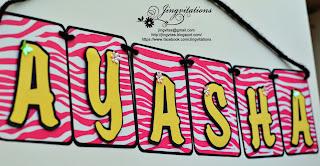hello kitty hot pink and black zebra birthday banner