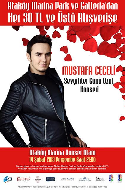 Ataköy Marina Konser Alanı Mustafa Ceceli 14 Şubat konseri