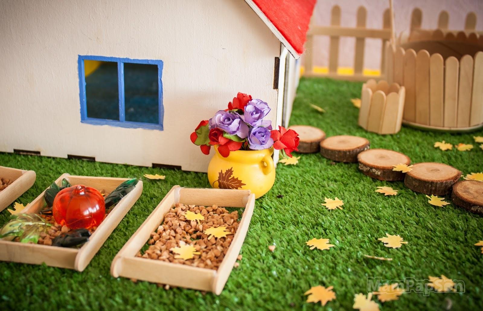 Фото поделки домика осень