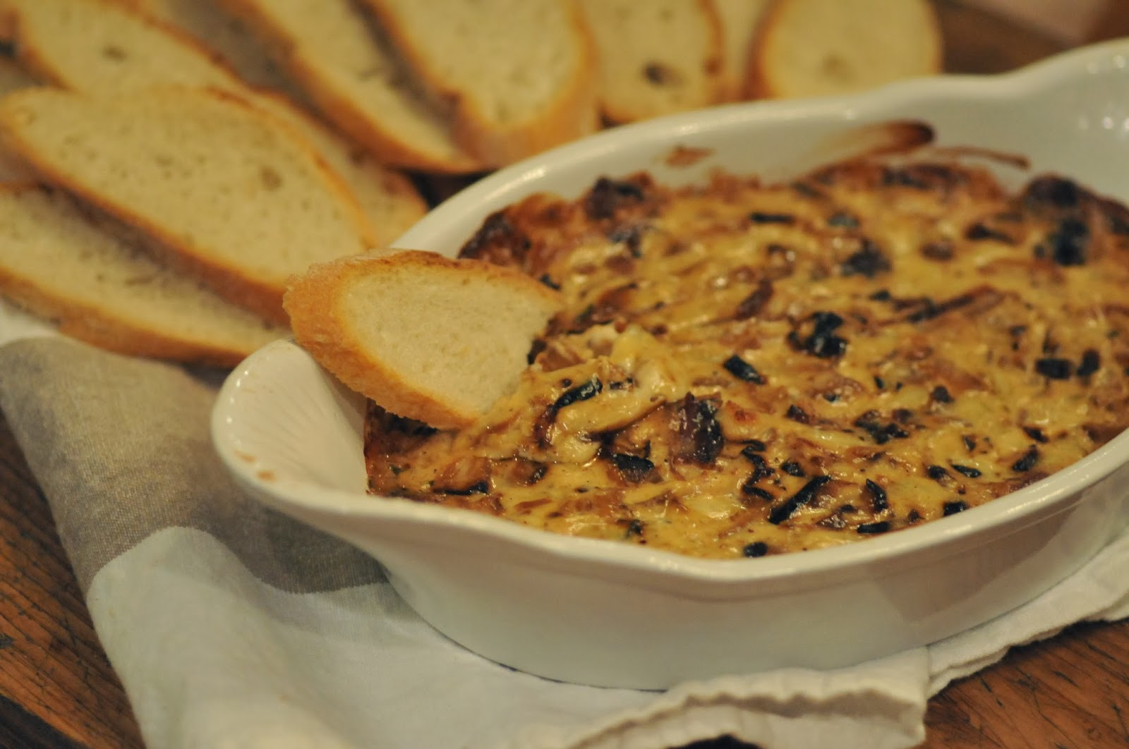 ... Recipe | Party Food | Warm Caramelized Onion Dip with Bacon + Gruyere