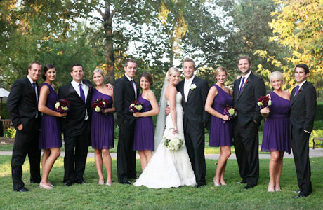 purple wedding receptions