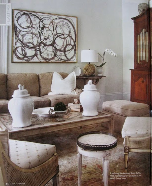 modern art traditional living room design