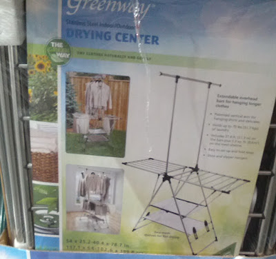 Greenway Fold Away Drying Station features Extendable Overhead Bars