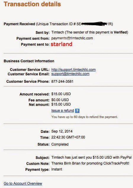 Kore 4 - ClickTrackProfit - CTP payment proofs